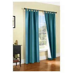 Weathermate Tab Curtain Panel Pair - Teal (Blue) (80 x 95)