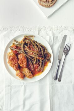 Braised chicken with snake beans | Souvlaki For The Soul