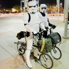 Brompton stormtroopers speederbrompton bromptonmafia (at Tempe Center for the Arts)