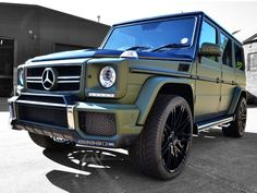 G63 AMG Matte Military Green Car Wrap | ReformaUK