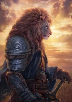 But the Lord is with me like a mighty warrior. -Jeremiah LionKing by Edwardckkk <<. Bible verses with fantasy art. Arte Furry, Furry Art, High Fantasy, Character Portraits, Character Art, Lion Wallpaper, Photo Chat, Lion Art, Fantasy Warrior