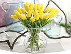 tulips garden care Tulpen Knstliche Mini T - Tulips Garden, Tulips Flowers, Fake Flowers, Silk Flowers, Home Wedding Decorations, Easter Table Decorations, Easter Centerpiece, Tulpen Arrangements, Flower Arrangements