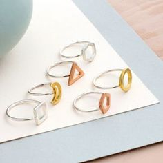 Personalised Mini Geometric Ring - rings