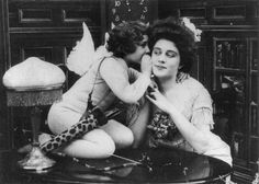 "intothebeautifulnew: ""Cupid's Pranks, silent film, 1908. Starring Violette Hill, directed by J. Searle Dawley """