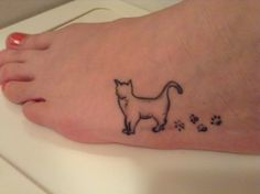 Tattoo for my 4 cats which all died in last 5 years.. Each paw is for each of my lovely kitties!