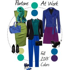 """""""Pantone Fall 2013 colors at work"""" by professionality on Polyvore"""