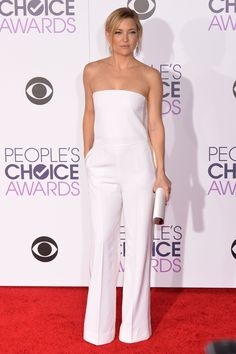 Kate Hudson - people's choice awards 2016 in gorgeous white jumpsuit - LOVE!!!
