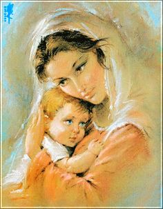 Animated Gif by Armanda V Beautiful Horse Pictures, Beautiful Gif, Beautiful Paintings, Jesus Christ Images, Jesus Art, Catholic Pictures, Jesus Pictures, Mother And Child Painting, Painting For Kids