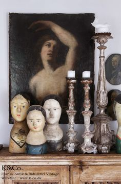 Gorgeous heads and candle sticks : : courtsgardengallery.com : :