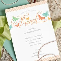 A charming brunch invitation printable, perfect for Easter, Mother's Day, or Spring party.