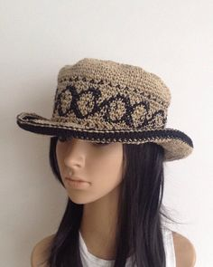 a51fd991e5e Items similar to Hemp Summer Hat .... Handmade Hemp Hat ...... Woman  Crochet Summer Hat....Crochet Hemp Hat.. Wire Brim Hat on Etsy