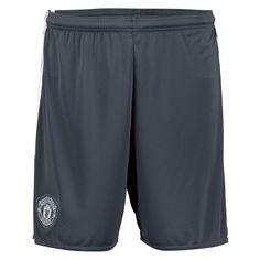 Manchester United adidas 2016 17 Third Replica Shorts - Gray 0922075a2d3
