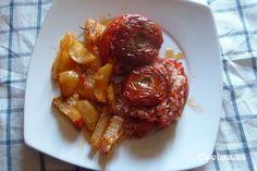 Tomates rellenos con arroz: http://tomates-rellenos-con-arroz.recetascomidas.com/ - #recets #recipes