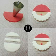 Fondant Cupcake Toppers, Fondant Cookies, Cupcake Cookies, Christmas Sugar Cookies, Christmas Sweets, Christmas Baking, Christmas Cupcakes Decoration, Cake Decorating Techniques, Savoury Cake