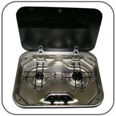 SMEV 8000, Hob 2 Burner with Lid, 480 x 370   Caravan Stove-Tops Without Grill   CaravansPlus.com.au $408.00