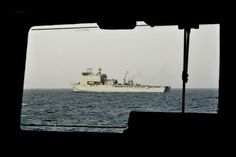 RFA Royal Fleet Auxilary) Cardigan Bay seen from HMS Shoreham [Picture: Petty Officer (Photographer) Paul A'Barrow, Crown copyright]
