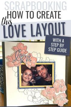 This scrapbook page was created with using Altenew stamps. We've included a step-by-step tutorial. Friend Scrapbook, Love Scrapbook, Scrapbook Pages, Scrapbooking, Easy Paper Crafts, Crafts To Make, Altenew, Just Love, Making Out