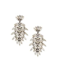 Leigh Crystal Drop Earrings by Dannijo at Neiman Marcus.