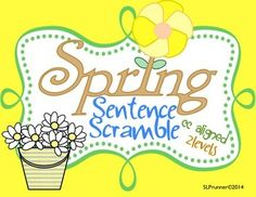 Spring Sentence Scramble! Two Levels!Sentence assembly and grammar tasks to spring into the season.  Level 1 and 2 sentence assembly tasks.  Common Core and CELF-5 Aligned My sentence assembly products include at least two scramble options which makes this product great for so many grade and learning levels.