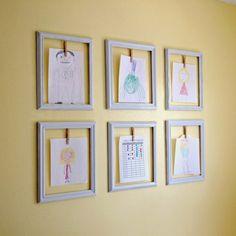 creative ways to display children's artwork