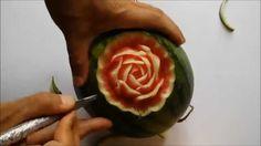 WATERMELON CARVING ANIMATION: intaglio su anguria fruit carving