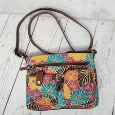 4ec64296ee Relic multicolored geo floral cross body canvas purse adjustable strap purse