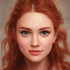 Fantasy Portraits, Character Portraits, Character Art, Beautiful Red Hair, Beautiful Eyes, Wattpad, Digital Art Girl, Pretty Pictures, Pretty People