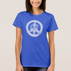 """""""At Peace Sign"""" Women's Tshirt - CHOOSE COLOR. @ Peace Sign - Design symbolizes finding calm in a world of constant internet connectivity. Find peace in the world & within yourself. Be @ peace. Cute gift for someone who likes blogging & posting on social media networks (i.e. twitter, instagram, facebook, pinterest), an internet entrepreneur or blogger using lots of hashtags for tagging & gaining followers, digital & affiliate marketing, & coding.  #smm #seo #atpeacesign"""