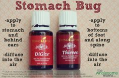 Young Living Essential Oils for Stomach Bugs