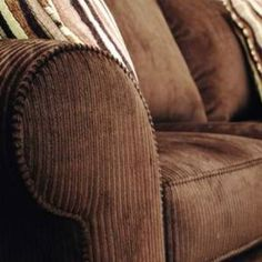 Brown corduroy couch...I love this, would take it in brown, tan, sage, olive or...