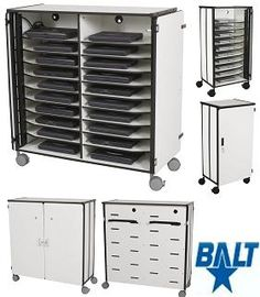 Balt mobile laptop storage cart and charging station by balt at deep discount pricing! Quick ship, and save up to off laptop carts and computer lab furniture at Worthington Direct. Storage Cart, Locker Storage, Electric Clock, Laptop Storage, Used Cell Phones, Catalog Online, Care Plans, Flooring Options, Phone Photography