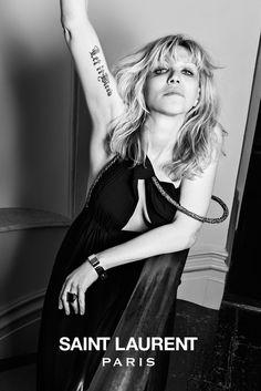 The Saint Laurent Music Project  Courtney Love for Saint Laurent - Photo by Hedi Slimane