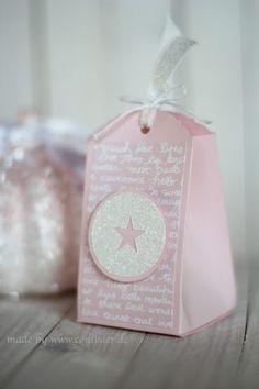 www.conibaer.de small pink gift bag with glitter / kleine rosa Geschenktüte mit Glitzer #stampinup #stern #star