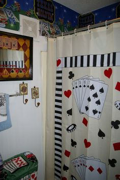 Trying to find living room curtain ideas for old western poker themed living room