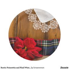 Rustic Poinsettia and Plaid Winter Country Wedding