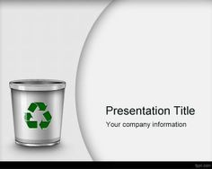 Waste Management PowerPoint Template is a free PowerPoint template background that you can download and use for waste management and other recycling and waste management presentations