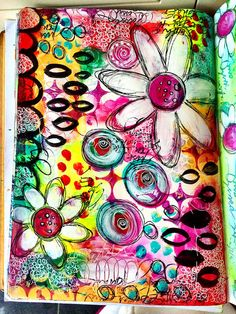 Just playing - art journal page