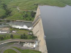 Friant Dam, on the upper San Joaquin in California, filled to the top in spring of 2006.