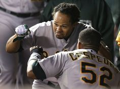 Coco and Céspedes - acting a little funny.