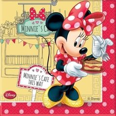 Minnie Mouse servietter - Køb flotte Minnie Mouse servietter til fest. #minnie #minniemouse #disney