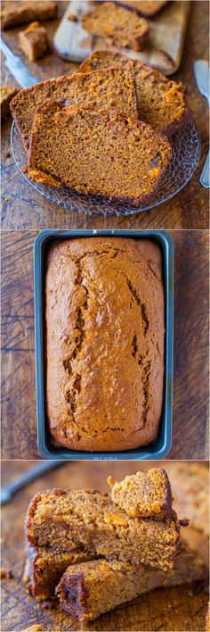 Oh Yum! Cinnamon and Spice Sweet Potato Bread - Eating your vegetables via soft & moist bread is the best way! Definitely my favorite way to eat sweet potatoes! Think Food, Love Food, Delicious Desserts, Dessert Recipes, Yummy Food, Sweet Potato Bread, Sweet Potato Cookies, Sweet Potato Muffins, Brunch