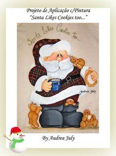 Santa likes cookies too Christmas Makes, Christmas Wood, Country Christmas, Christmas Pictures, Christmas Snowman, Christmas Crafts, Christmas Ornaments, Painted Ornaments, Painted Jars