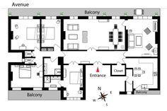 République floor plan