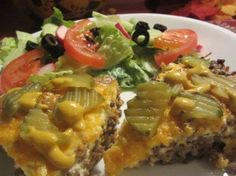 Cheeseburger Bake--great for low carb