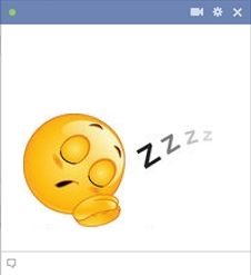 Sleeping smiley for Facebook chat