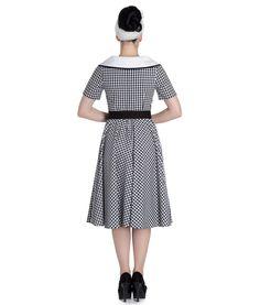 Hell Bunny 50's Ladybird Lady Bird Gingham Check Rockabilly Dress Black | eBay
