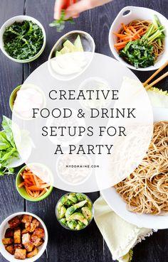 16 DIY Food and Drink Stations for Your Next Party : Your next party needs these food and drink stations to make it extra special Diy Party Food, Diy Food, Food Ideas, Drink Stations, Party Stations, Christmas Drinks Alcohol, Grown Up Parties, Party Needs, Drinks Alcohol Recipes