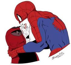 Kiss kiss SpideyPool [18+]