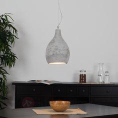 Suspension Hatice en béton gris, référence 9995017 - Style industriel : des lampes au design moderne ultra tendance chez Luminaire.fr !
