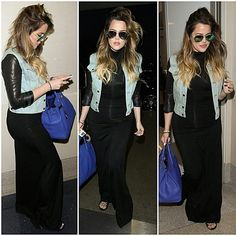 #khloekardashian #kimkardashian #northwest #kendalljenner #denimjacket #maxi #maxidress #bag #hermesbirkin #tote #fashion #style #celebrity #look #lookbook #beautiful #gorgeous #trend #trendy #chic #ootd #outfit #instafashion #instastyle #stylish #accessories #heels #shoes #model #supermodel... - Celebrity Fashion